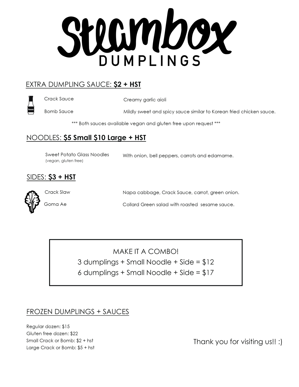 Shop Menu WEEK 1 PAGE 2 soup - collard no kimchi